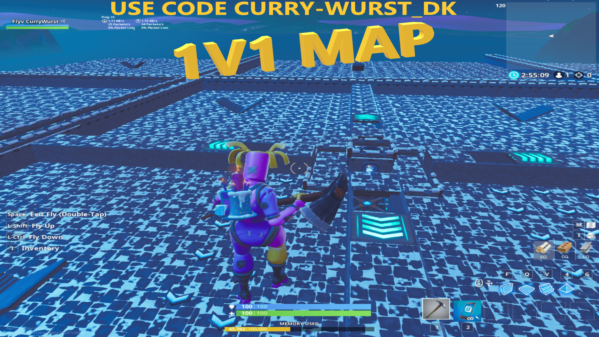 1v1 map room for 16 people - fortnite world cup map