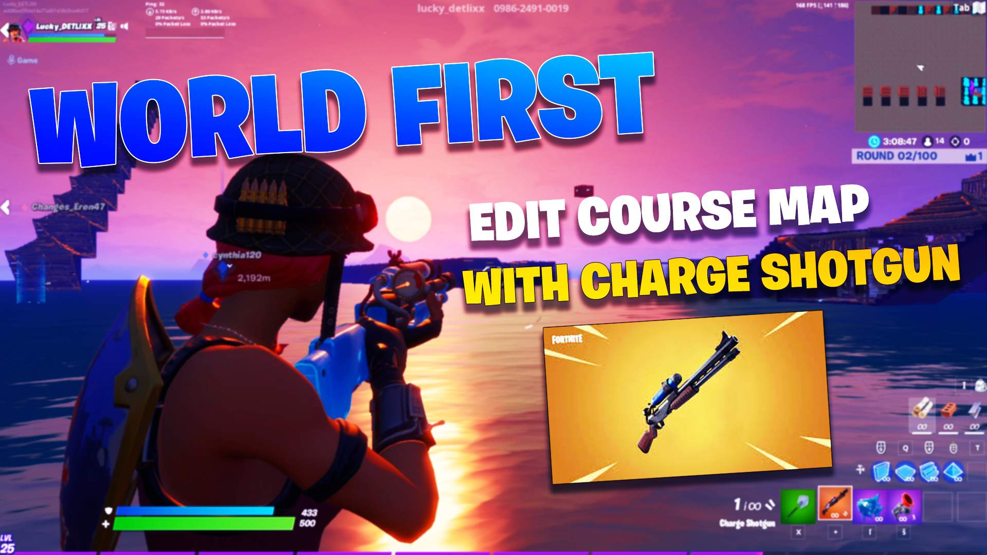 UPDATED - CHARGE SHOTGUN EDIT COURSE
