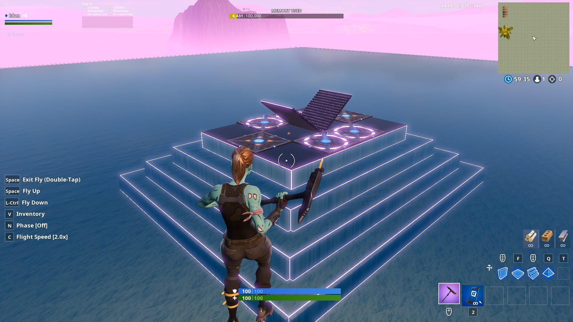1V1 WATER MAP (NEW WEAPONS)
