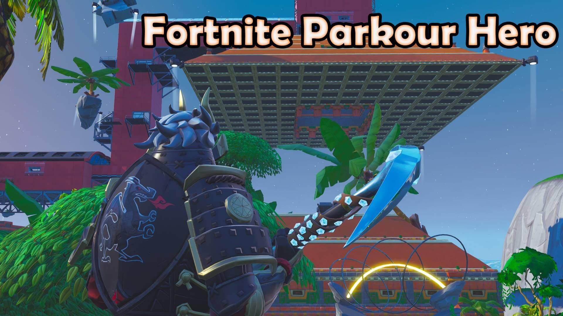 fortnite hero parkour - fortnite parkour maps codes