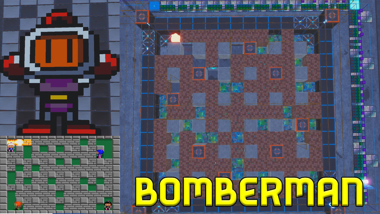 BOMBERMAN 4 PLAYERS GAME BY MALLOUMARIO