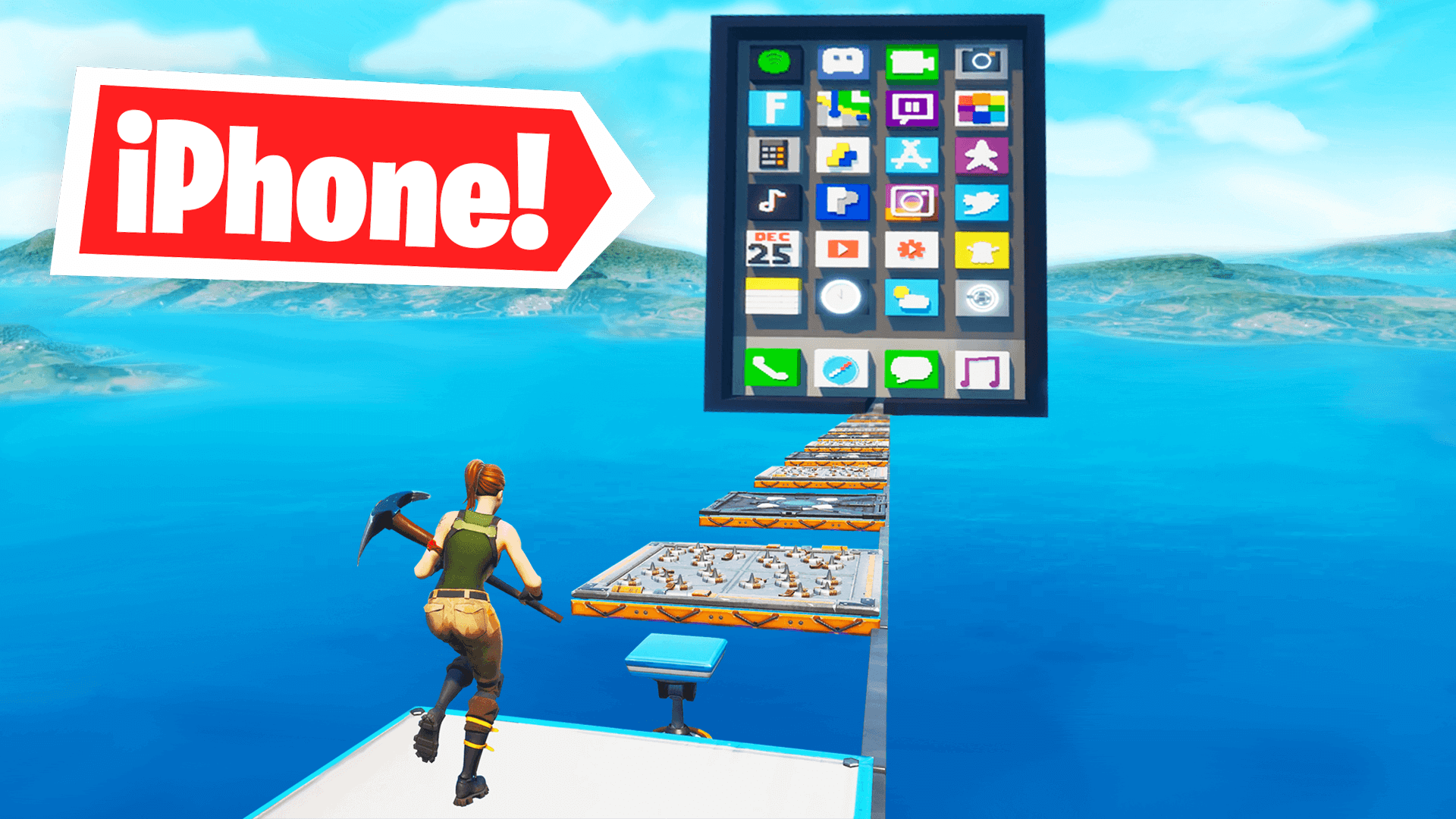 GIANT IPHONE DEATHRUN! - Fortnite Creative Codes - Dropnite com