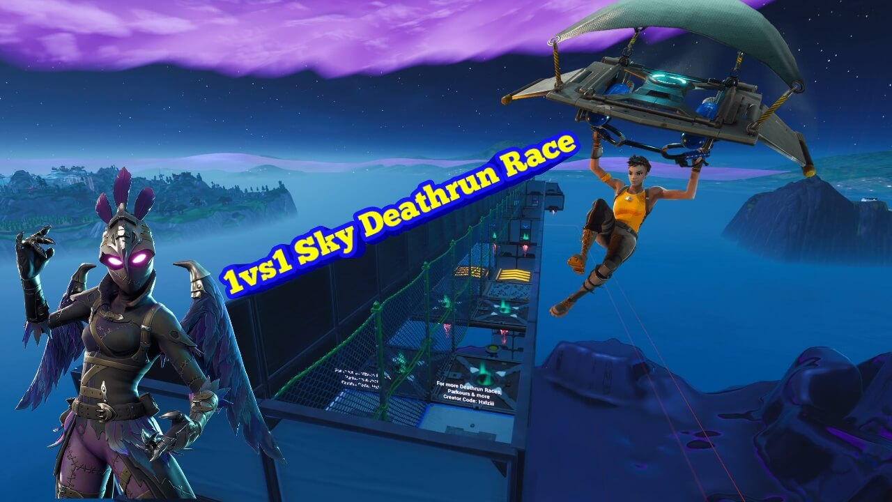 1VS1 SKY DEATHRUN RACE!!