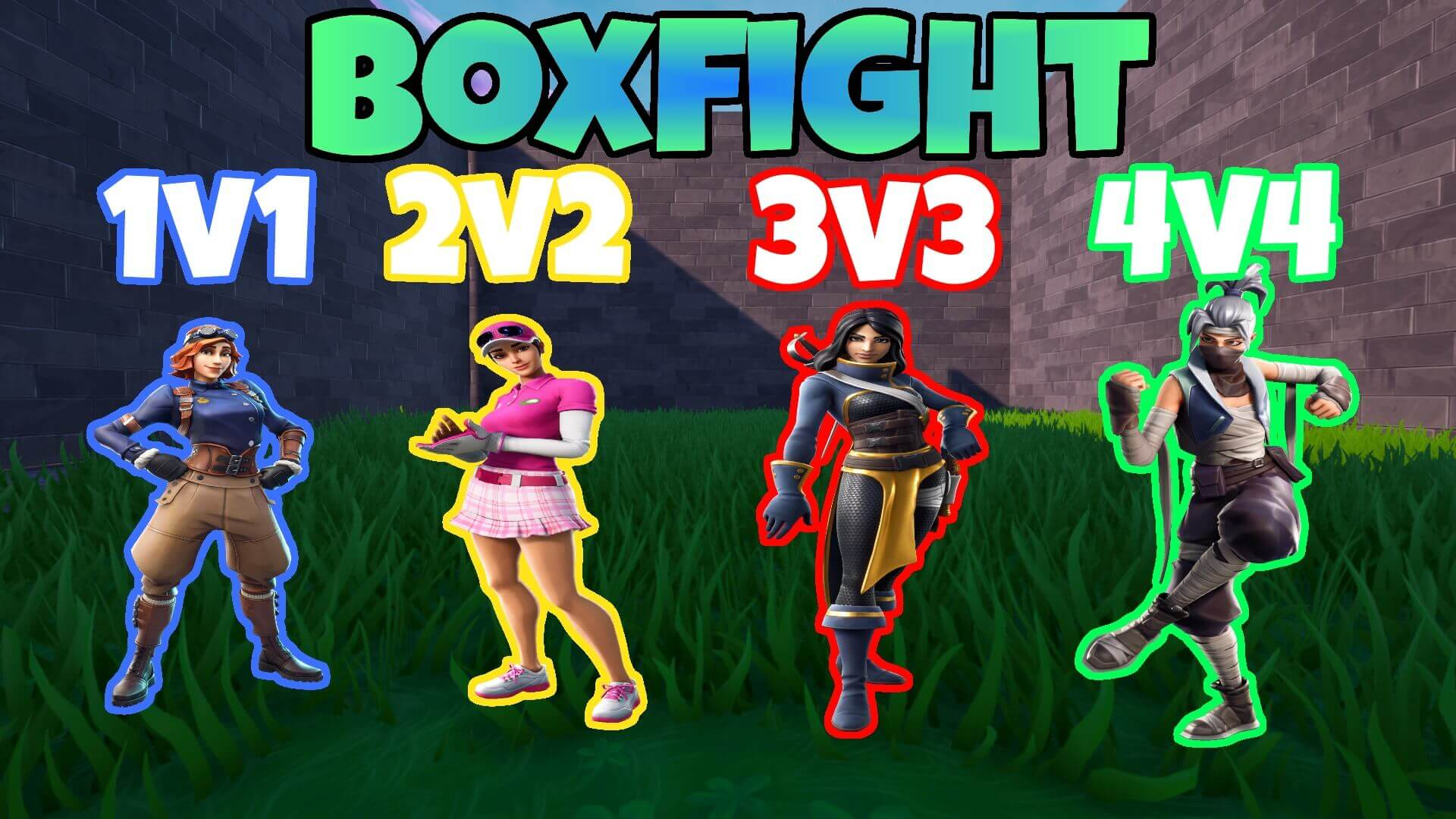 BOX FIGHT 1V1 2V2 3V3 4V4