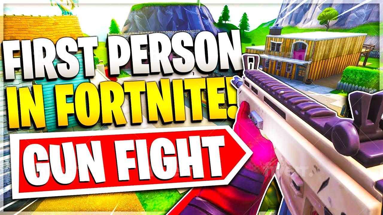 FIRST PERSON 2V2 GUN FIGHT!