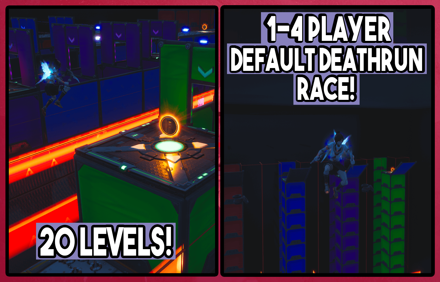 1-4 PLAYER DEFAULT DEATHRUN RACE!