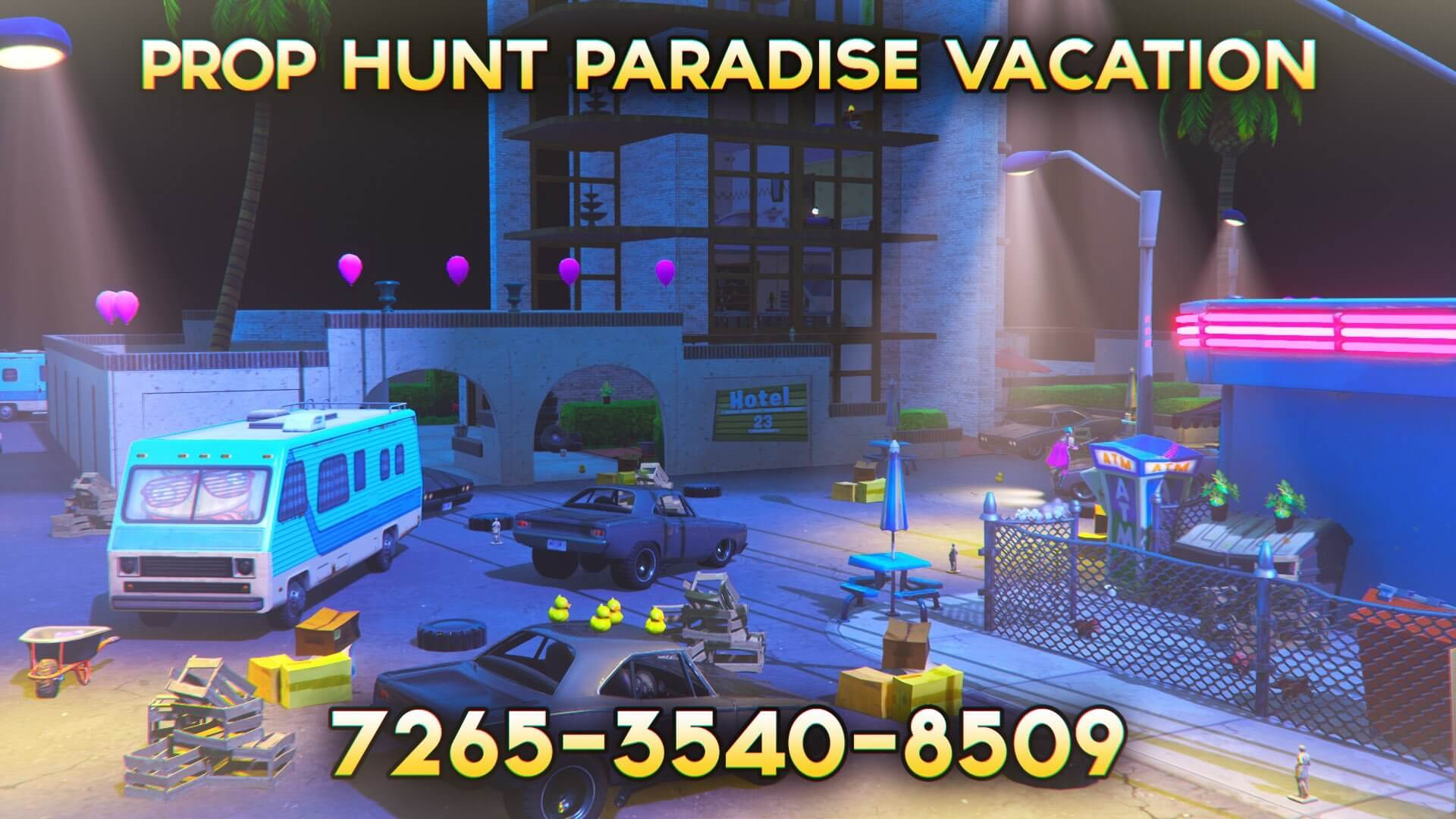 PROP HUNT: PARADISE VACATION BY @ZYREMS