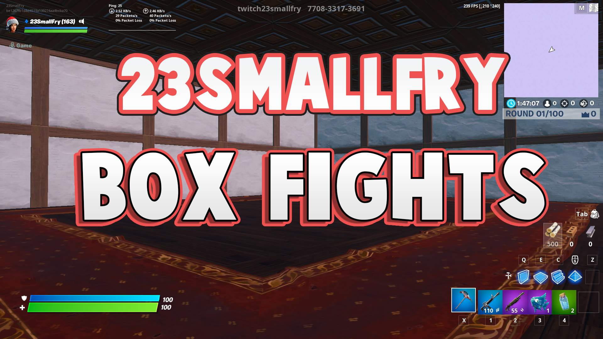 1V1/2V2/3V3 BOXFIGHT MAP BY 23SMALLFRY