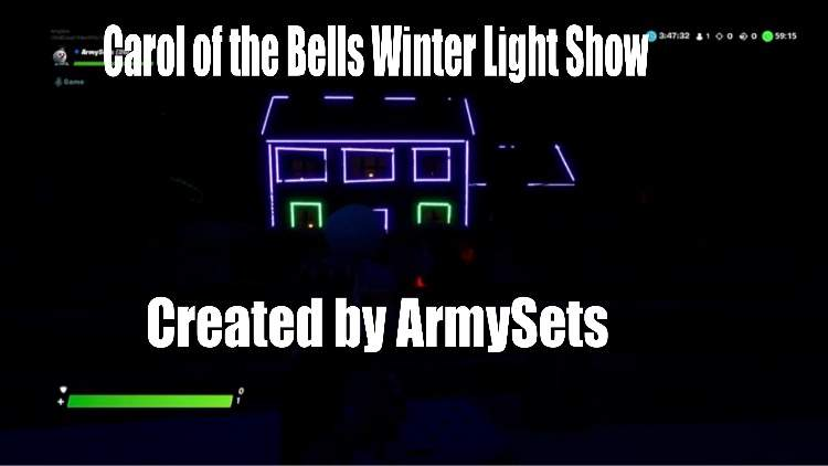 CAROL OF THE BELLS, LIGHT SHOW MAP