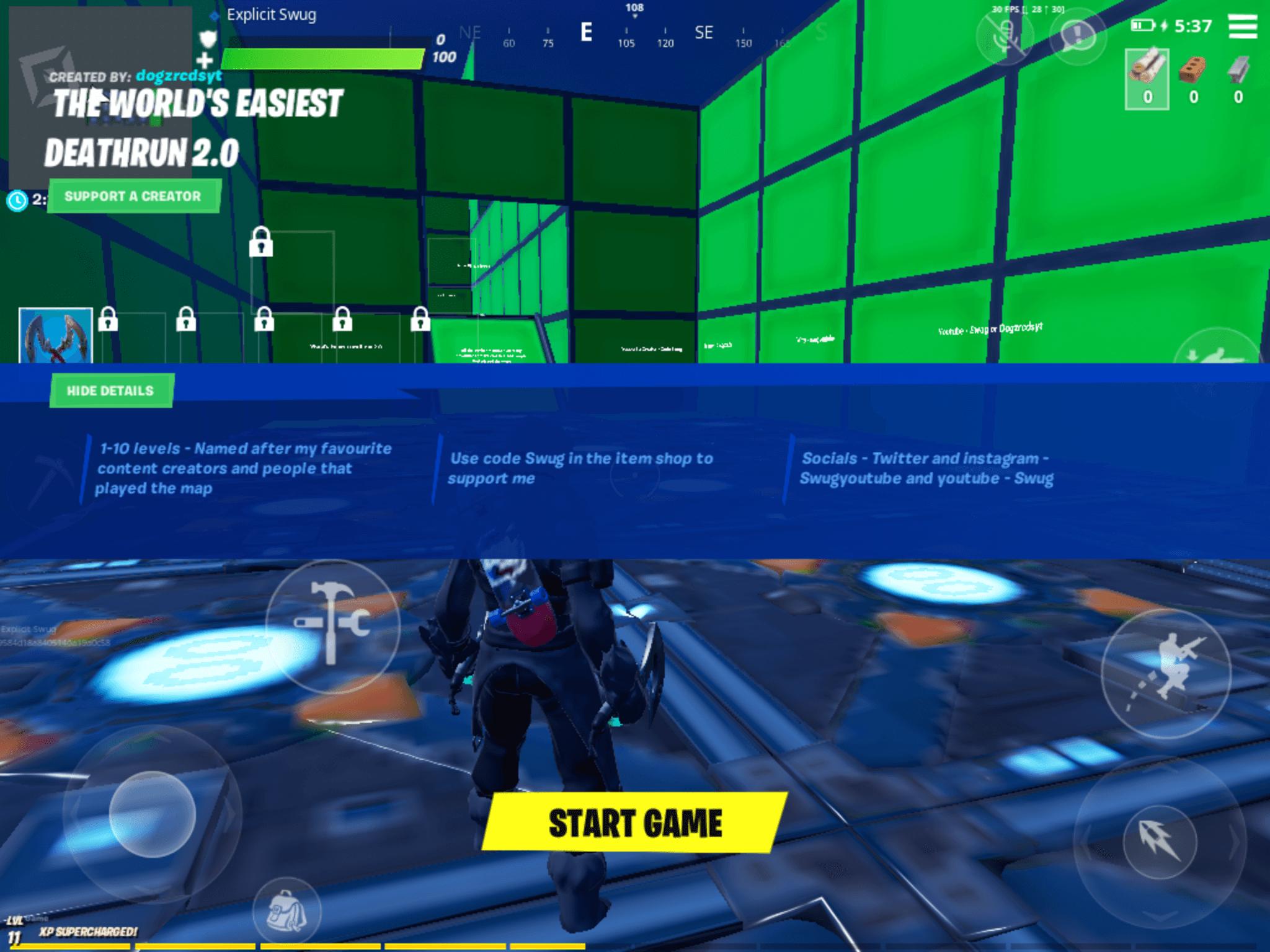 The Worlds Easiest Deathrun 20 Fortnite Creative Map