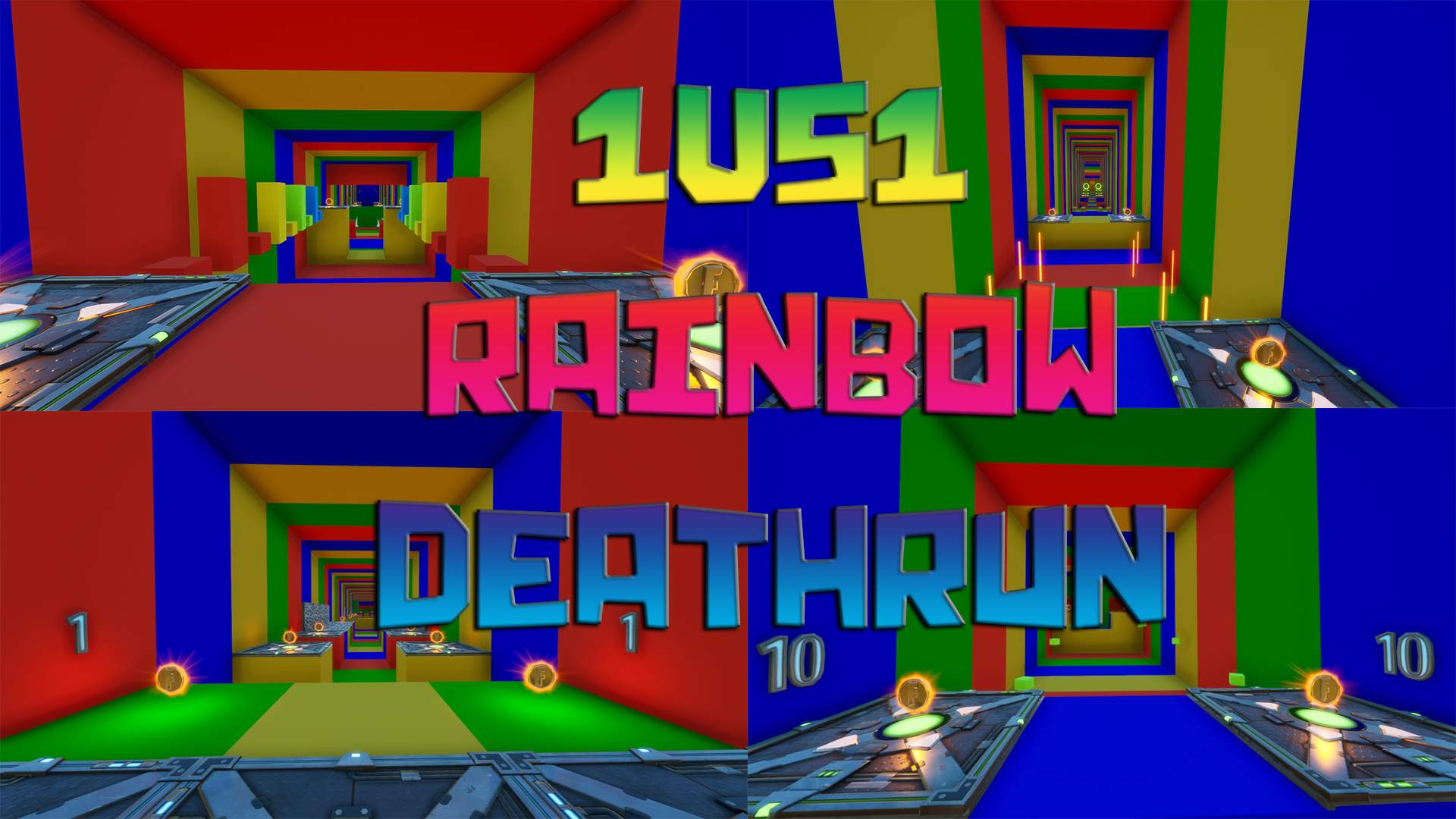 1VS1 RAINBOW DEATHRUN (30 LVL)