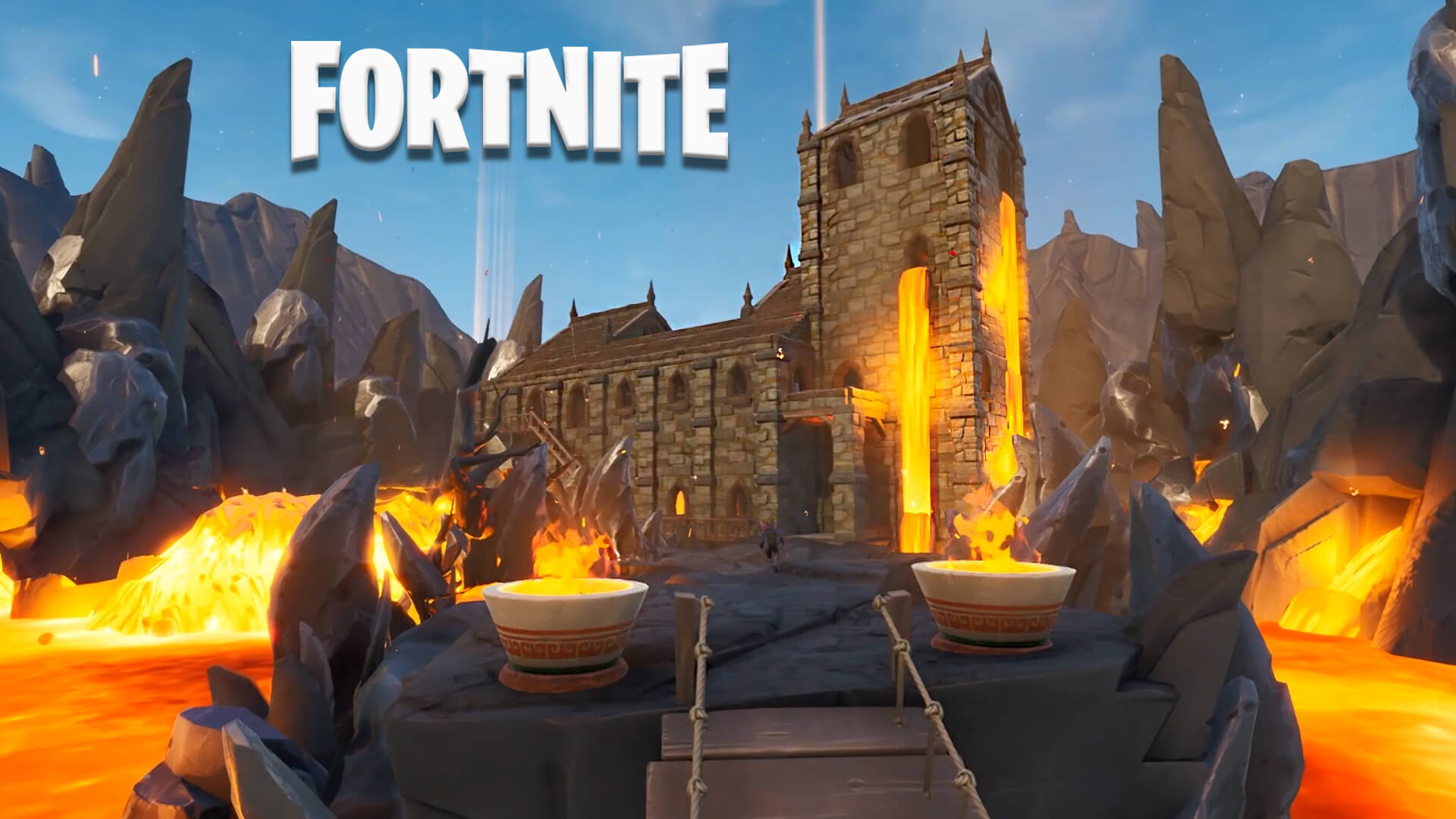 VOLCANO CHURCH 1V1 BUILD BATTLE