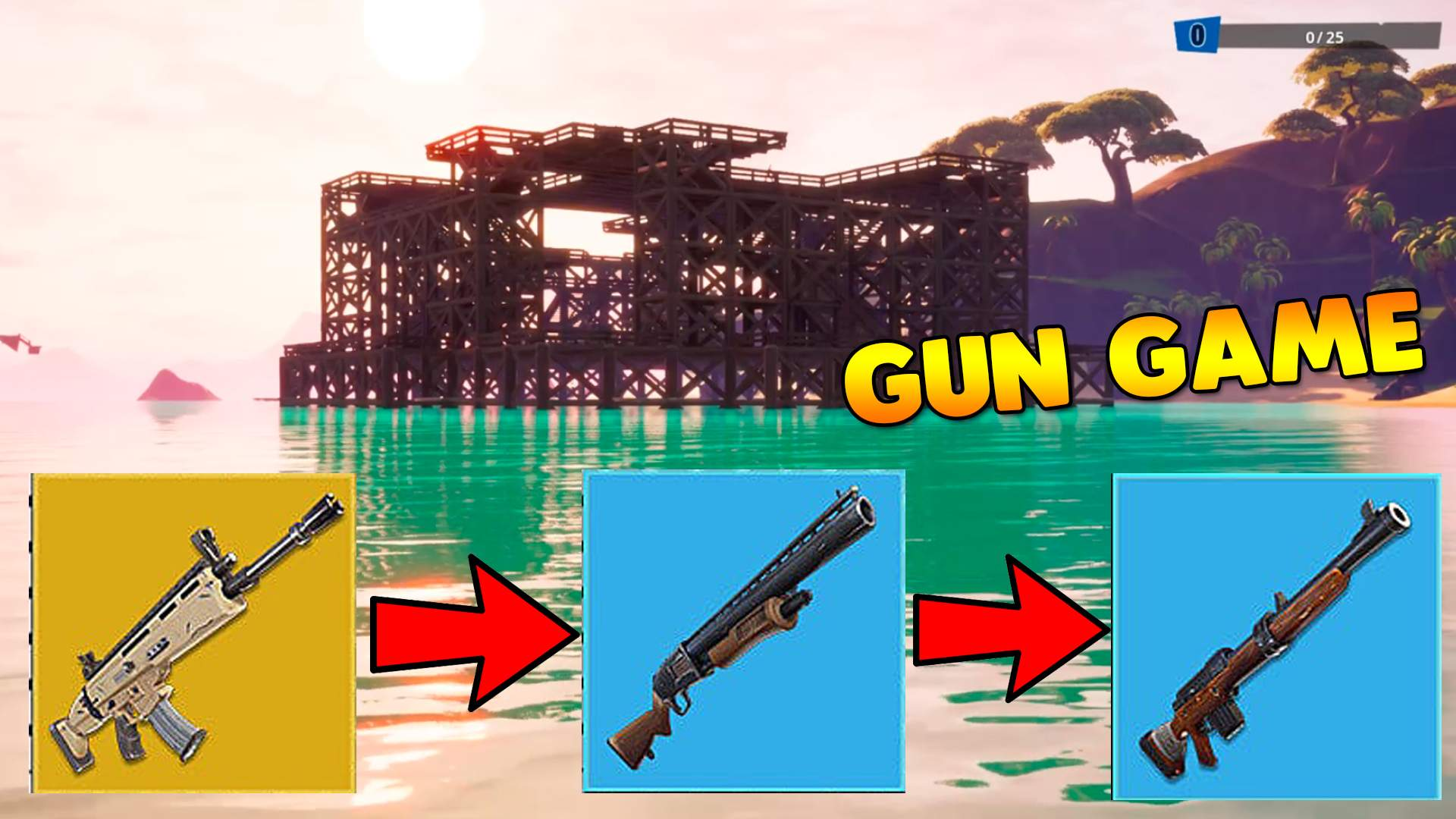 GUN GAME TROPICAL FORTRESS