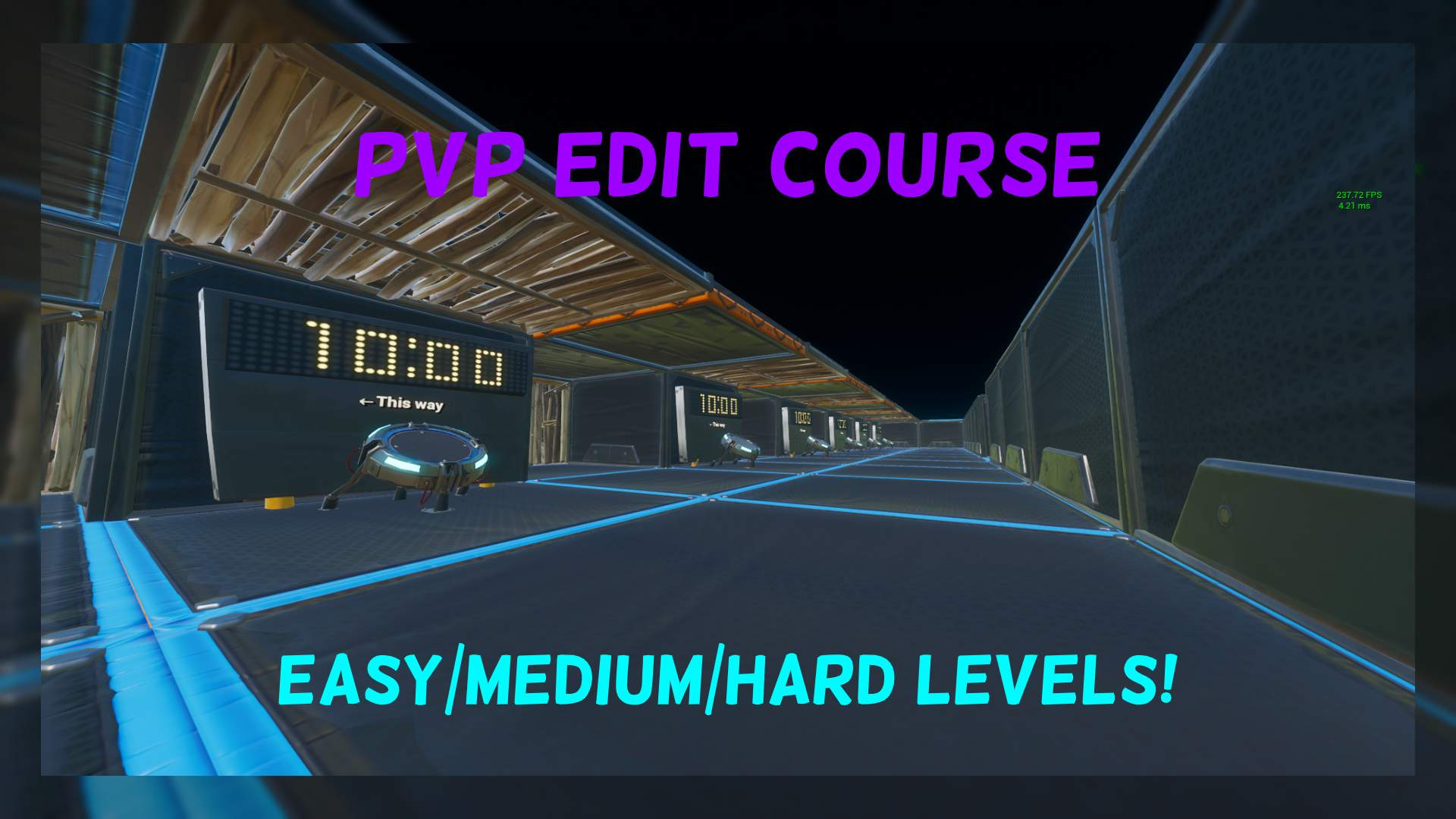PVP EDIT COURSE RACE EASY/MEDIUM/HARD
