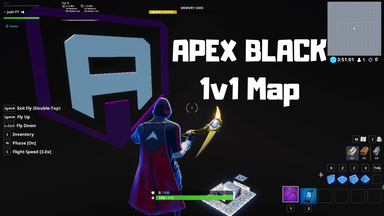 TEAM APEX BLACK 1V1 MAP