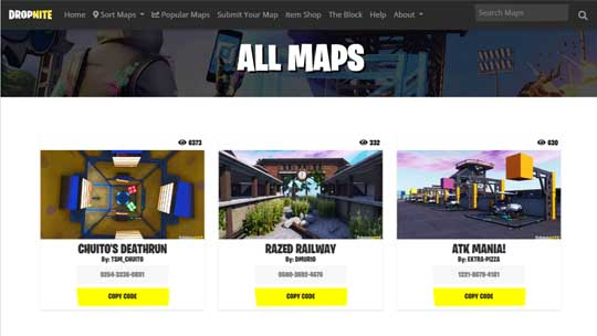 All Fortnite Creative Map Codes - Fortnite Creative Codes