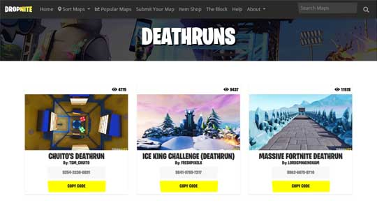 fortnite deathrun codes for noobs