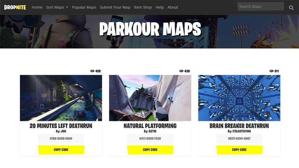 Fortnite Parkour Map Codes Fortnite Creative Codes